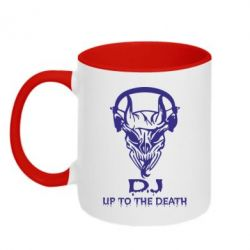 Кружка двухцветная Dj Up to the Dead - FatLine