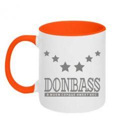 Кружка двухцветная Donbass - FatLine