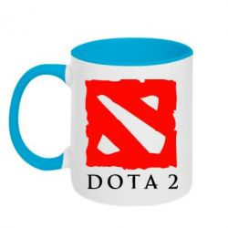 Кружка двухцветная Dota 2 Big Logo - FatLine