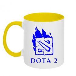 Кружка двухцветная Dota 2 Fire - FatLine