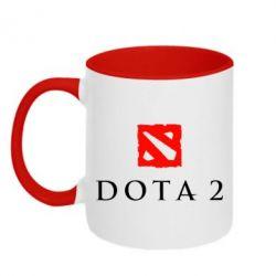 Кружка двухцветная Dota 2 - FatLine
