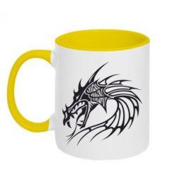 Кружка двухцветная Dragon - FatLine