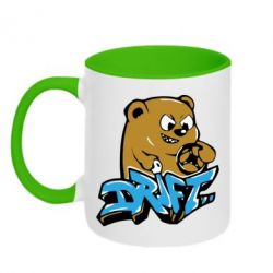 Кружка двухцветная Drift Bear - FatLine