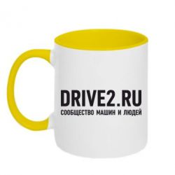 Кружка двухцветная Drive2.ru - FatLine