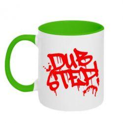 Кружка двухцветная Dub Step Граффити - FatLine