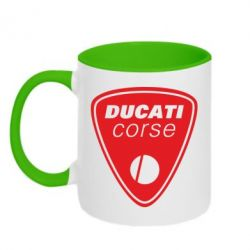 Кружка двухцветная Ducati Corse - FatLine