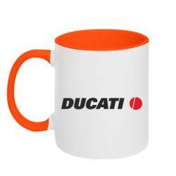 Кружка двухцветная Ducati - FatLine