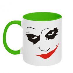 Кружка двухцветная Джокер - FatLine