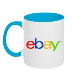 Кружка двухцветная Ebay - FatLine
