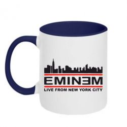 Кружка двухцветная EMINEM live from New York City - FatLine