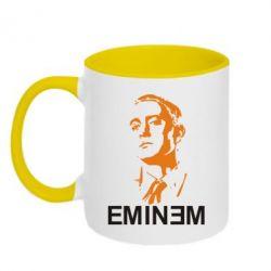 Кружка двухцветная Eminem Logo - FatLine