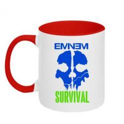 Кружка двухцветная Eminem Survival - FatLine