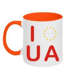 Кружка двухцветная Euro UA - FatLine