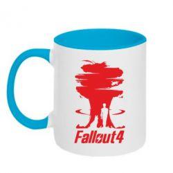 Кружка двухцветная Fallout 4 Art - FatLine