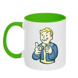 Кружка двухцветная Fallout 4 Boy - FatLine