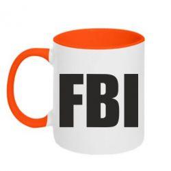 Кружка двухцветная FBI (ФБР)