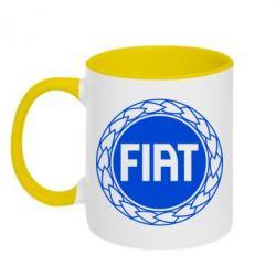 Кружка двухцветная Fiat logo - FatLine