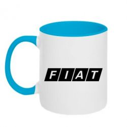 Кружка двухцветная Fiat - FatLine