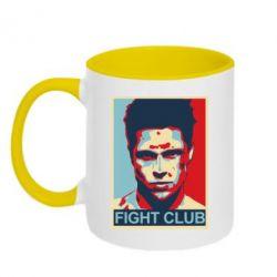 Кружка двухцветная Fight Club Tyler Durden - FatLine