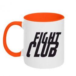 Кружка двухцветная Fight Club - FatLine