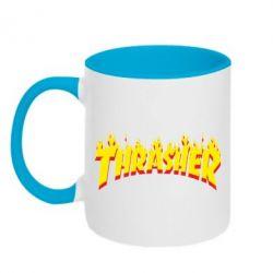 Кружка двухцветная Fire Thrasher - FatLine