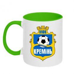 Кружка двухцветная ФК Кремень Кременчуг - FatLine