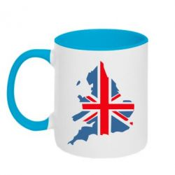 Кружка двухцветная Флаг Англии - FatLine
