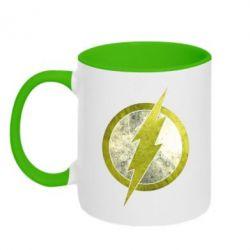 Кружка двухцветная Flash Logo - FatLine