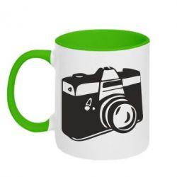 Кружка двухцветная Фотоаппарат - FatLine