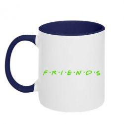 Кружка двухцветная Friends (Друзья) - FatLine
