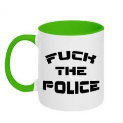 Кружка двухцветная Fuck The Police К черту полицию - FatLine