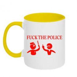 Кружка двухцветная Fuck the Police - FatLine