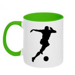 Кружка двухцветная Футбол - FatLine