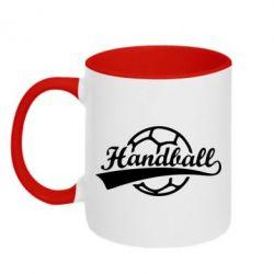 Кружка двухцветная Гандбол Лого - FatLine