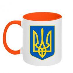 Кружка двухцветная Герб неньки-України - FatLine