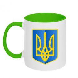 Кружка двухцветная Герб України 3D - FatLine