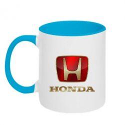Кружка двухцветная Gold Honda - FatLine