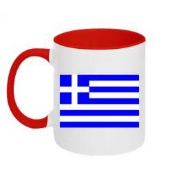 Кружка двухцветная Греция - FatLine