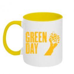 Кружка двухцветная Green Day American Idiot - FatLine