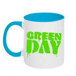 Кружка двухцветная Green Day - FatLine