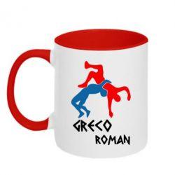 Кружка двухцветная Греко-римская борьба - FatLine