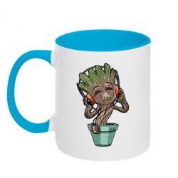 Кружка двухцветная Groot - FatLine