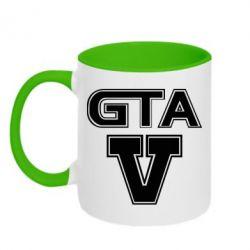 Кружка двухцветная GTA 5 - FatLine