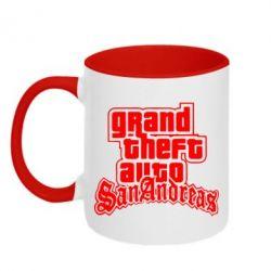 Кружка двухцветная GTA San Andreas - FatLine