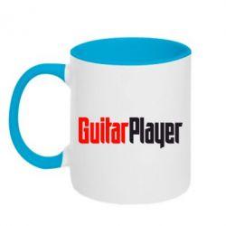 Кружка двухцветная Guitar Player - FatLine