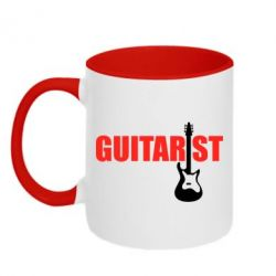 Кружка двухцветная Guitarist - FatLine