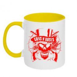 Кружка двухцветная Guns n' Roses Logo - FatLine