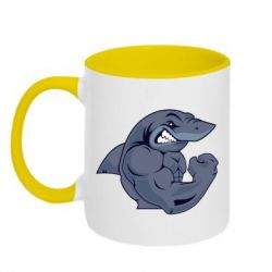 Кружка двухцветная Gym Shark - FatLine