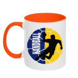 Кружка двухцветная Handball Logo - FatLine