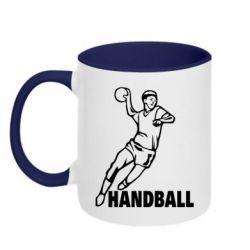 Кружка двухцветная Handball - FatLine
